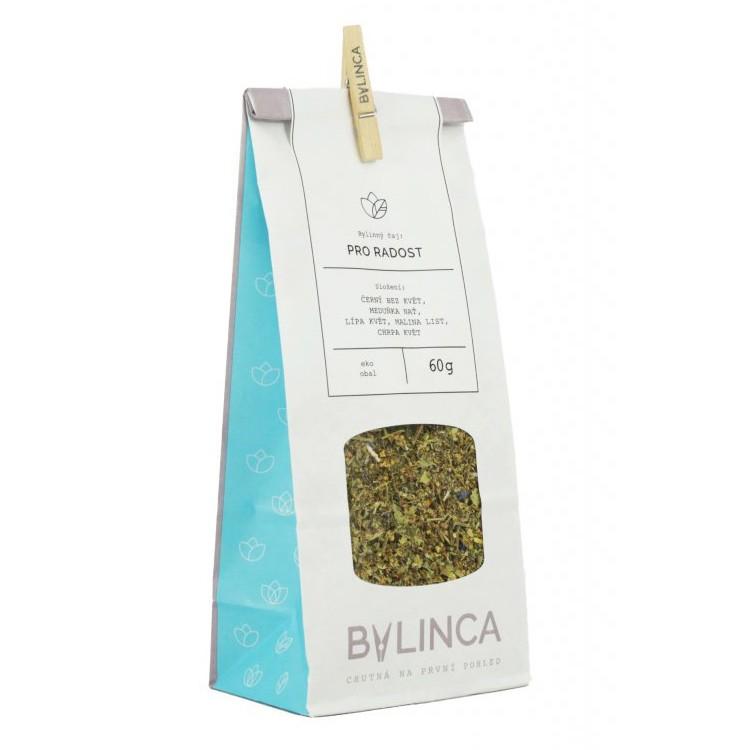 Čaj Bylinca Pro radost v hodnotě 80 Kč