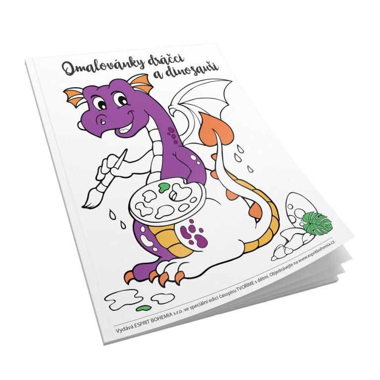 Dětské malovánky Dráčci a dinosauři  v hodnotě 78 Kč