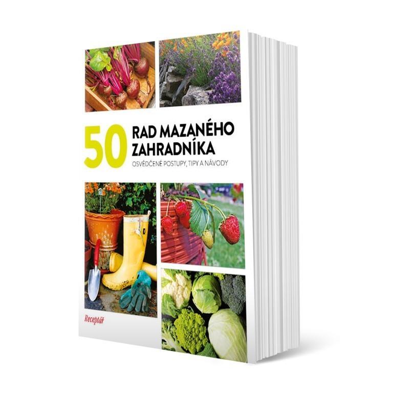 Kniha 50 rad mazaného zahradníka v hodnotě 181 Kč