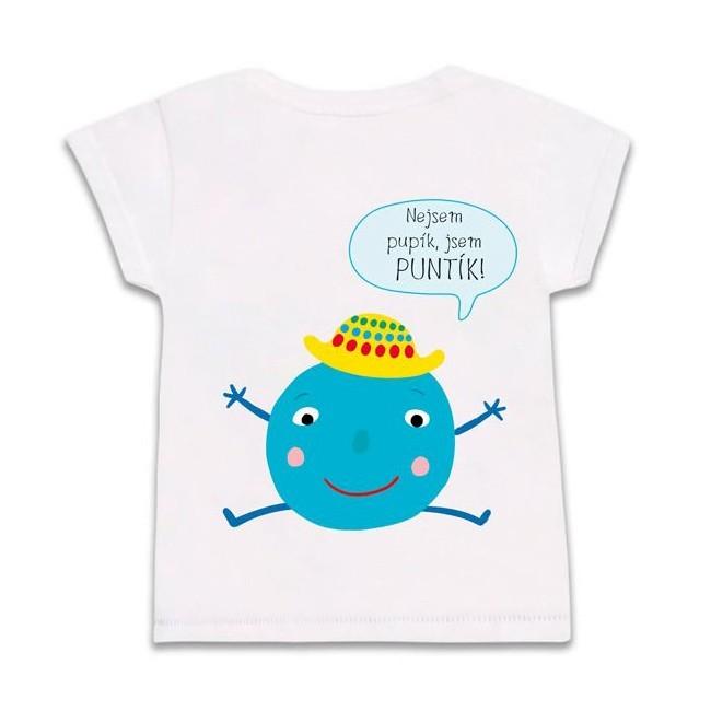 Tričko modrý Puntík velikost 104 v hodnotě 325 Kč