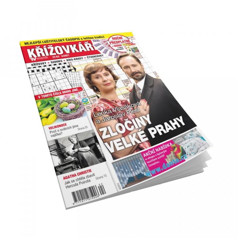 Předplatné Křížovkář TV magazín v hodnotě 248 Kč