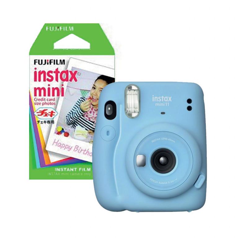 Fotoaparát Fujifilm Instax Mini 11 modrý včetně 10 ks filmu v hodnotě 1 998 Kč
