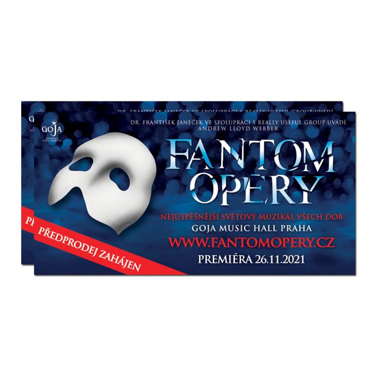 2 vstupenky Fantom opery