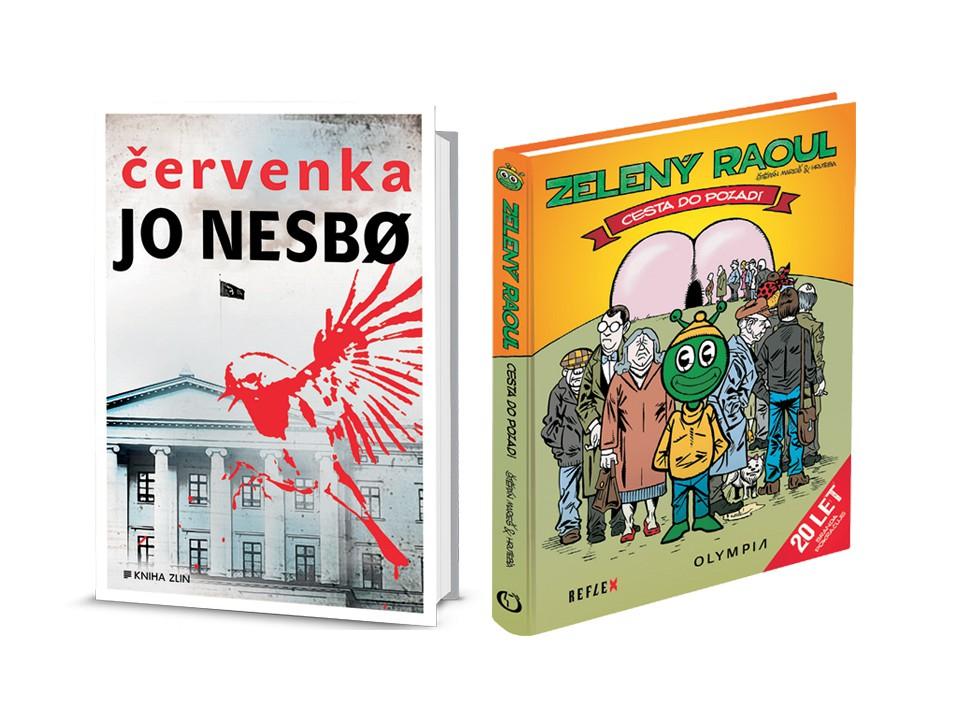Kniha Červenka od Jo Nesbø + kniha Zelený Raoul 1