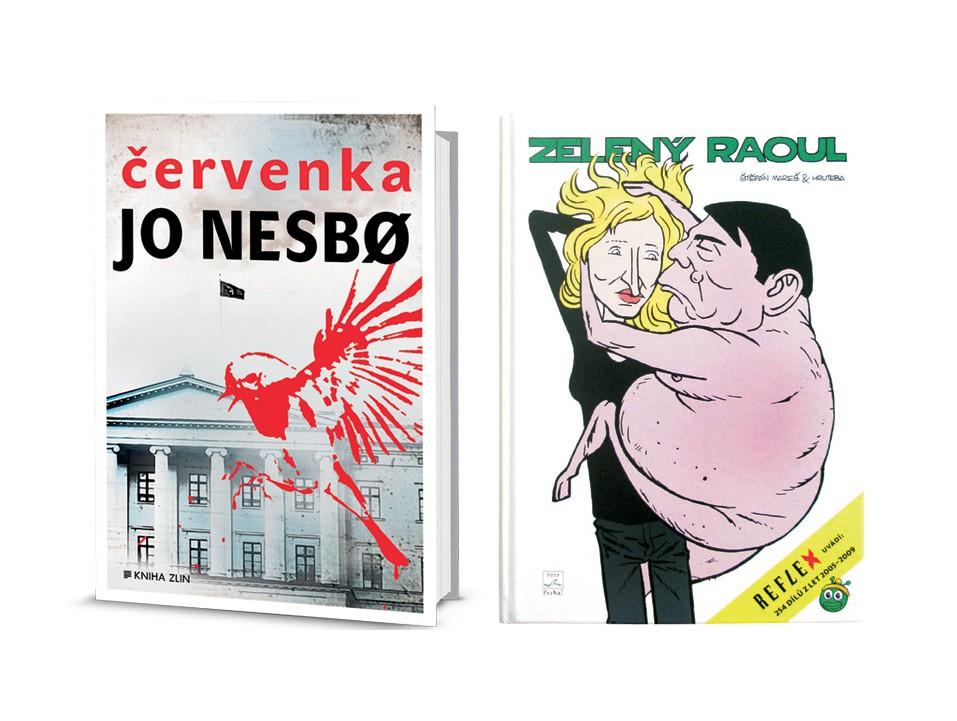 Kniha Červenka od Jo Nesbø + kniha Zelený Raoul 2