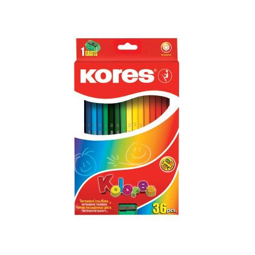 Dětské pastelky Kores v hodnotě 130 Kč