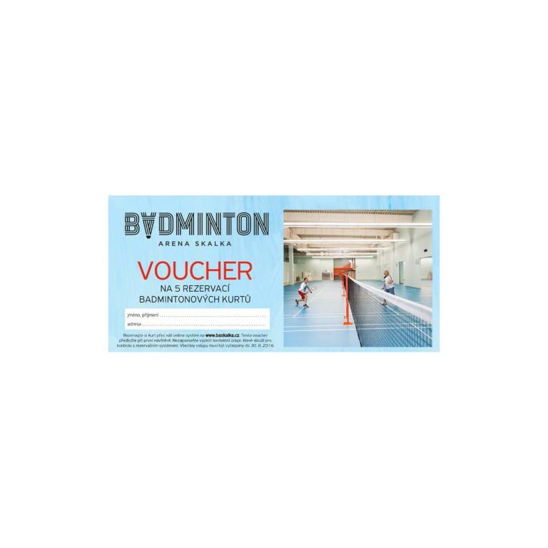 Pronájem badmintonových kurtů v hodnotě 1450 Kč