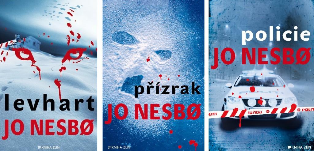 Tři knihy od Jo Nesbo - Levhart, Přízrak a Policie