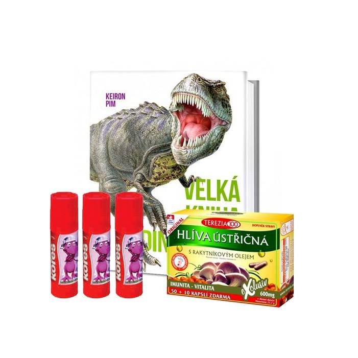 Dinosauři, lepidla a hlíva v ceně 707 Kč