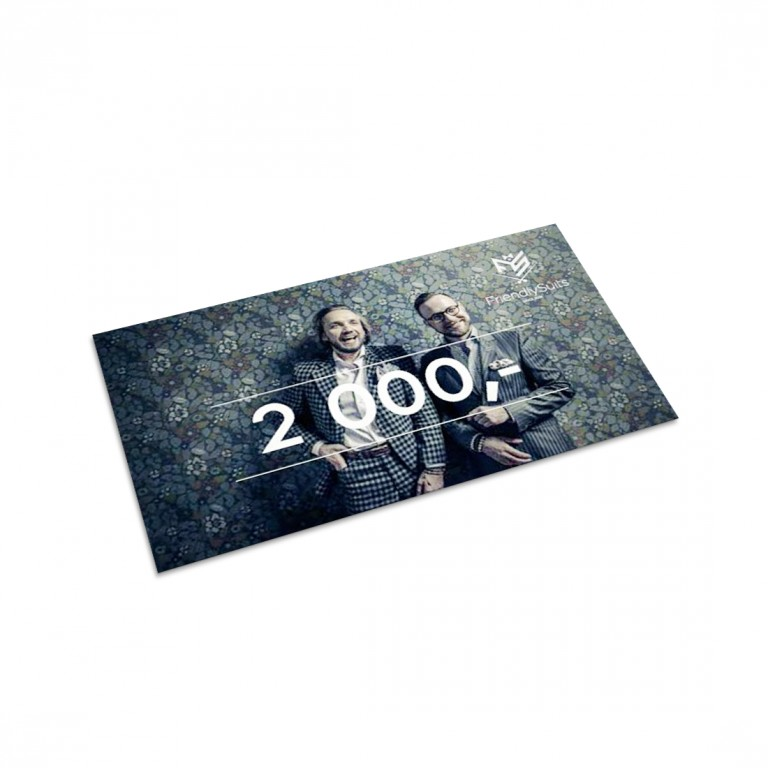 Poukaz FriendlySuits v hodnotě 2000 Kč