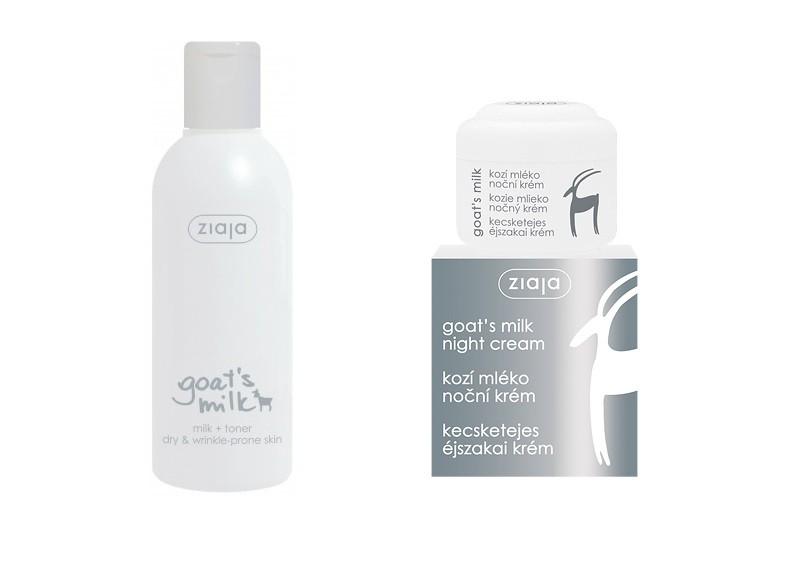 Balíček Ziaja Kozí kosmetika - noční krém + mléko