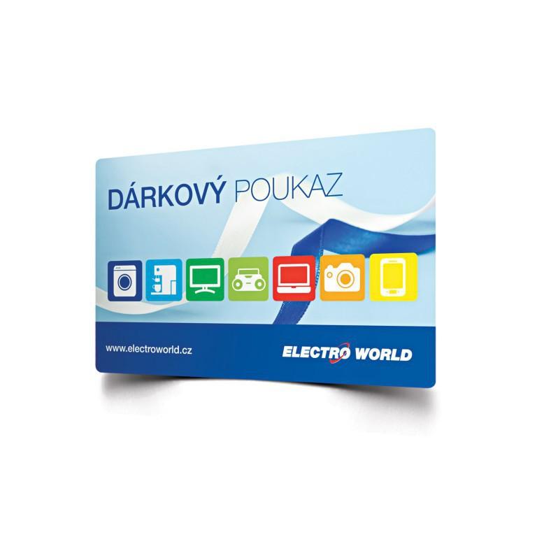 Dárková karta Electro World 1000 Kč