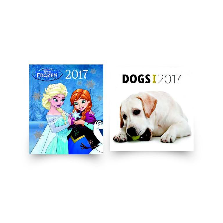 Kalendář Ledové království a Dogs