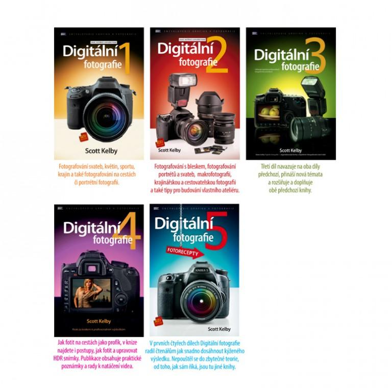Pět dilů knihy Digitální fotografie