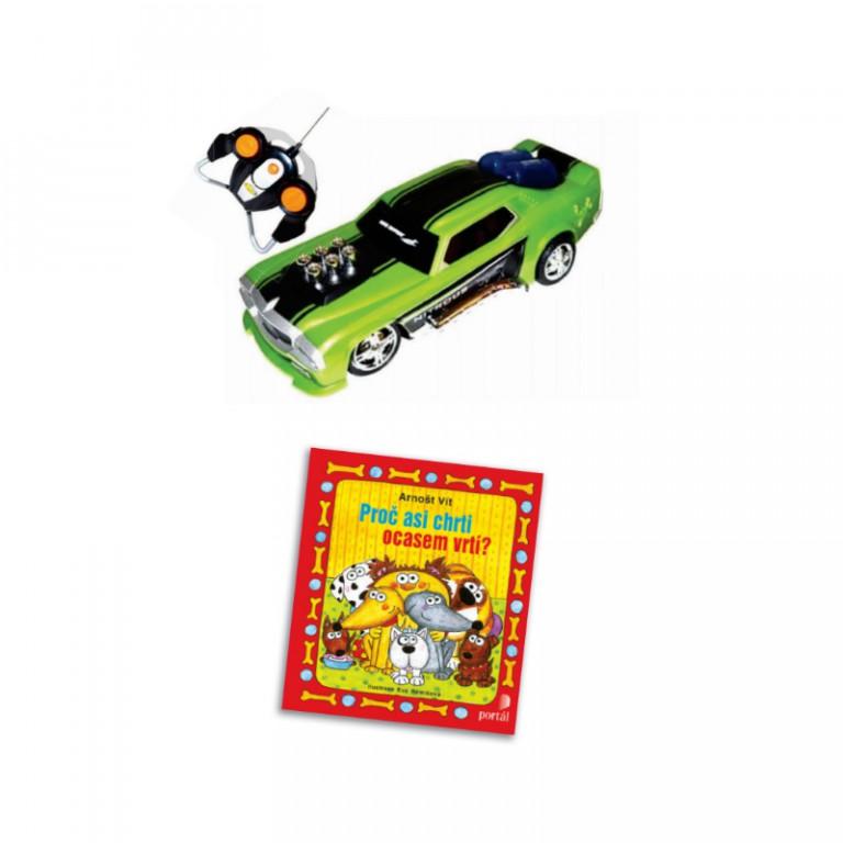 Ovládací auto a kniha