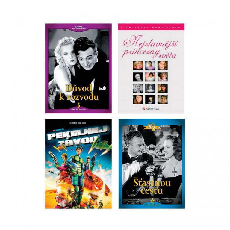 Kolekce 4 DVD v hodnotě 396 Kč