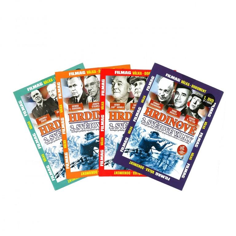 Hrdinové 2. světové války (4 DVD)