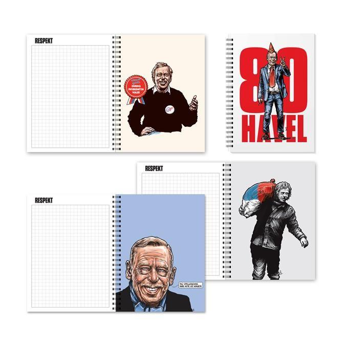 Zápisník Havel v hodnotě 250 Kč