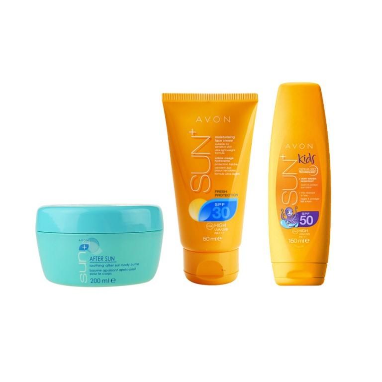 Balíček opalovací kosmetiky od Avonu v hodnotě 787 Kč