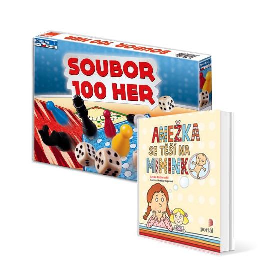Soubor 1000 her a kniha Anežka v hodnotě 348 Kč