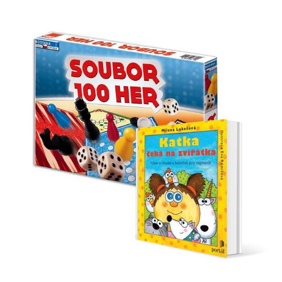 Soubor 1000 her a kniha Katka v hodnotě 348 Kč