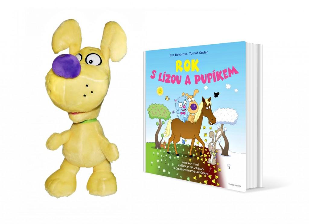 Plyšák Pupík pro kluky a knížka