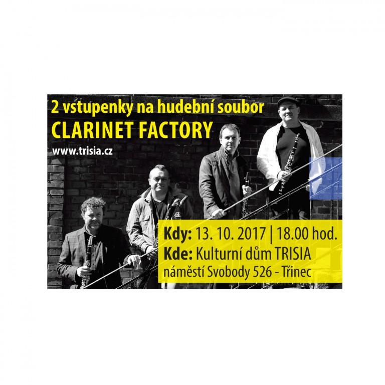 Dvě vstupenky na Clarinet Factory