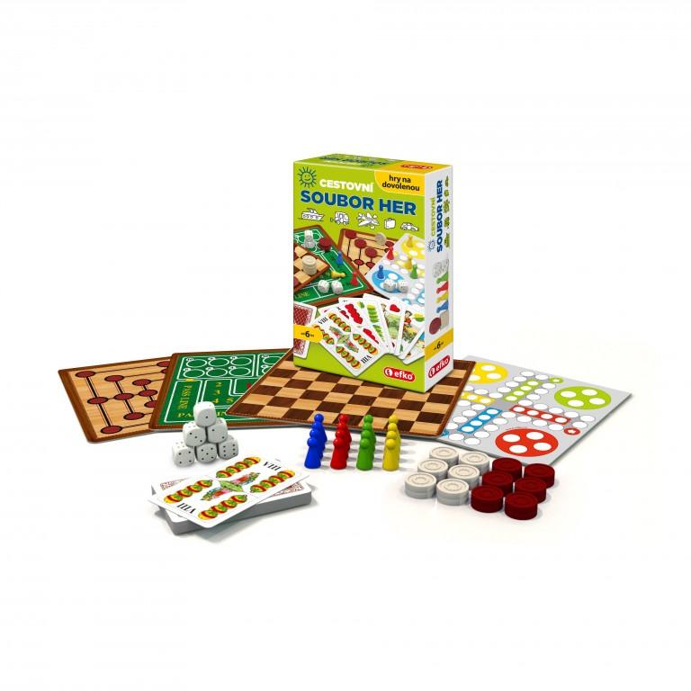 Cestovní soubor her v hodnotě 219 Kč