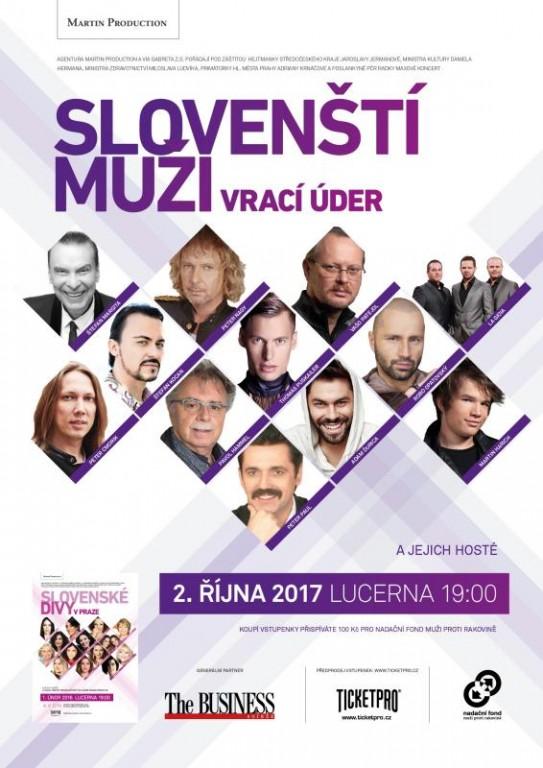 """Koncert """"Slovenští muži vrací úder"""" volné vstupy pro 2 osoby"""