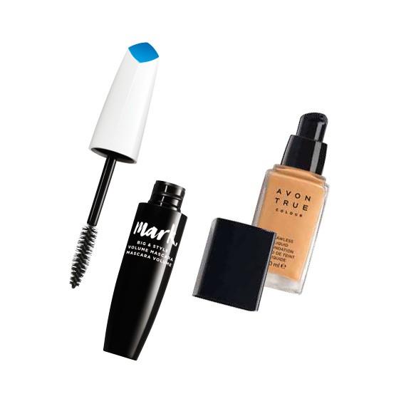 Řasenka a makeup Avon v hodnotě 427 Kč