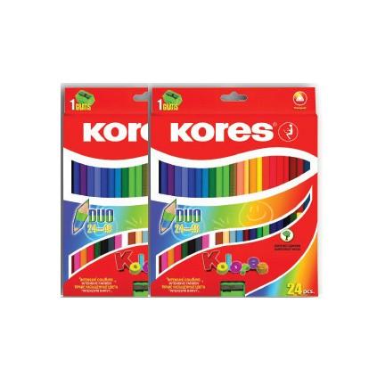 Pastelky Kores Duo v hodnotě 340 Kč