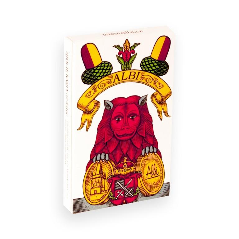 Hrací karty jednohlavé Mariášky od Albi
