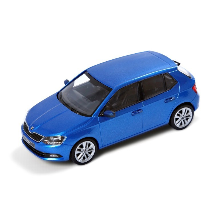 Model Škoda Fabia Race, modrá