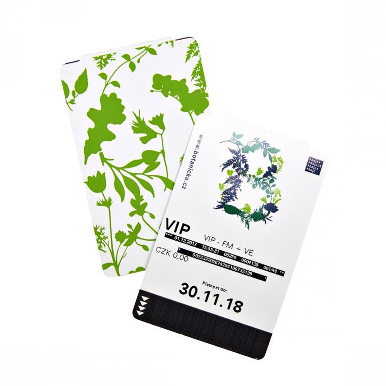 Vstupenky Botanická v hodnotě 1500 Kč