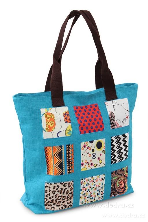 Plážová textilní velká kabelka Nina - značka Dedra