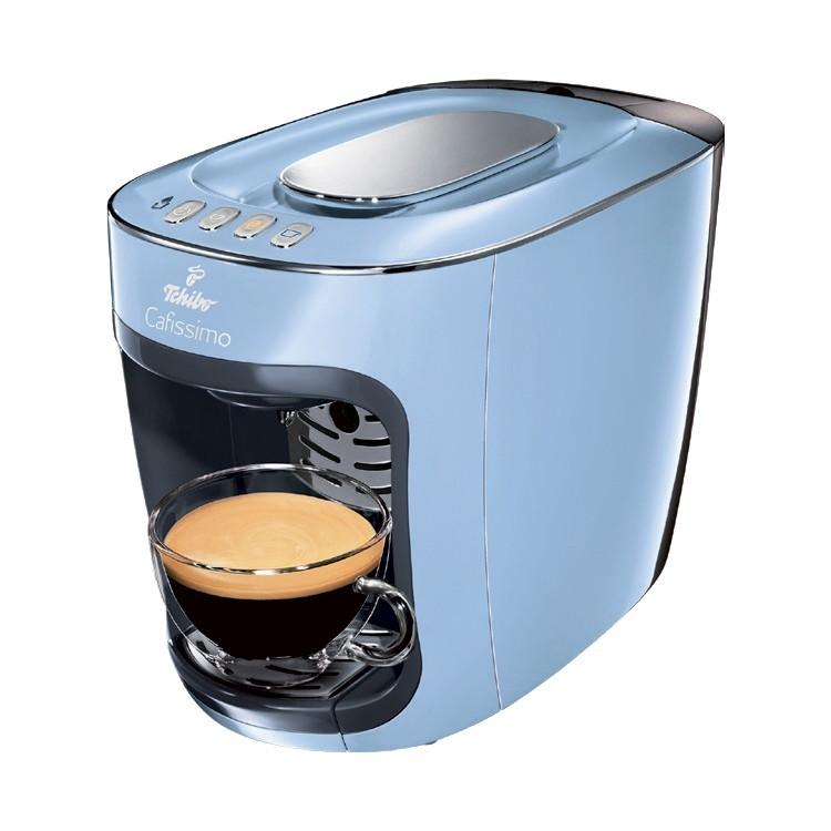 Modrý kávovar Tchibo v hodnotě 2299 Kč