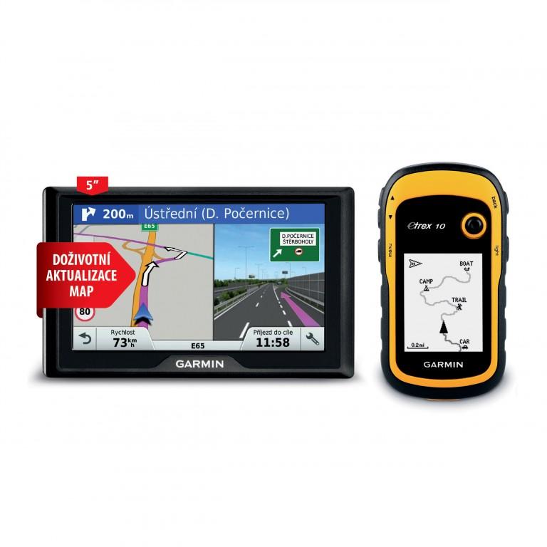 Navigace Garmin Drive 51S a eTrex 10