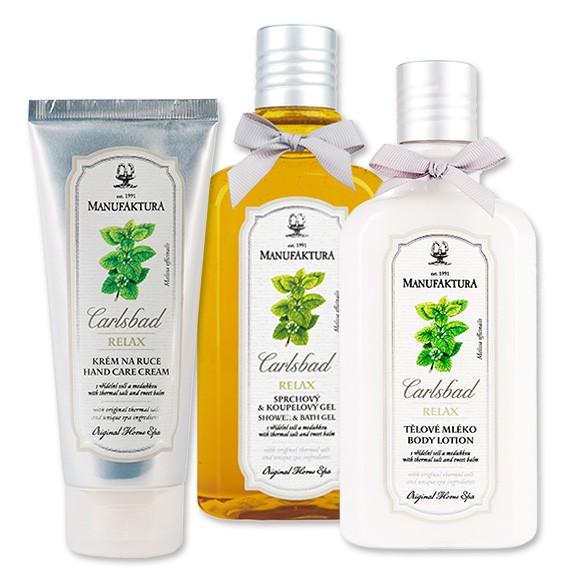 Kosmetický balíček Meduňka & Vřídelní sůl od značky Manufaktura