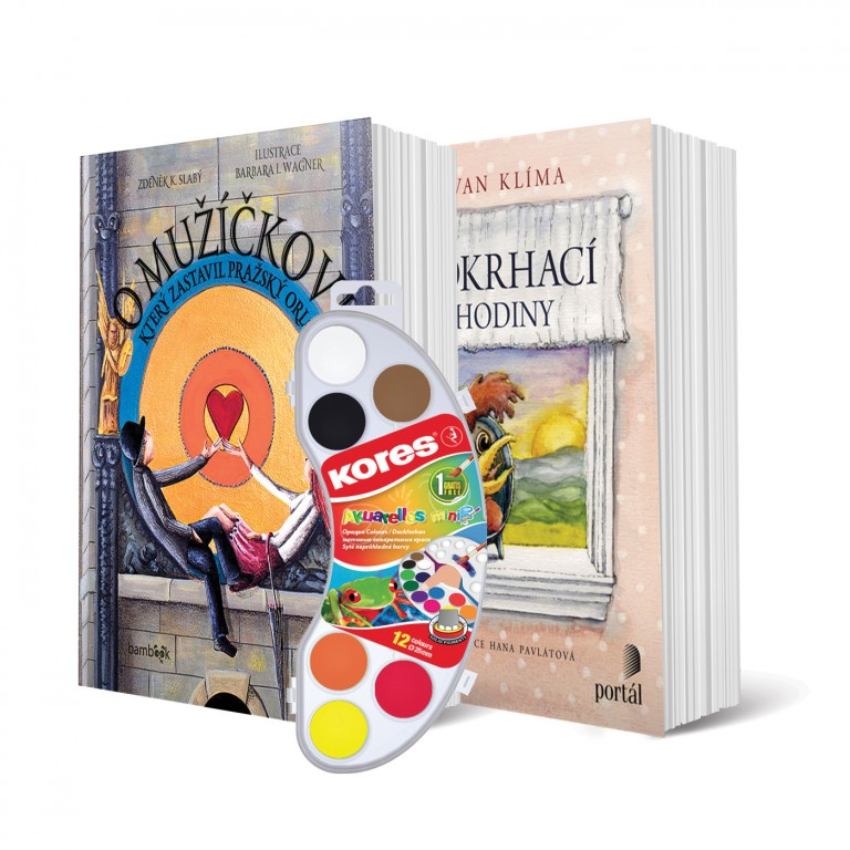 Knihy a barvy v hodnotě 244 Kč