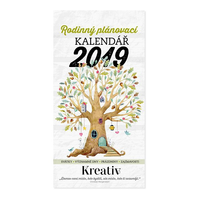 Kalendář 2019 v hodnotě 365 Kč