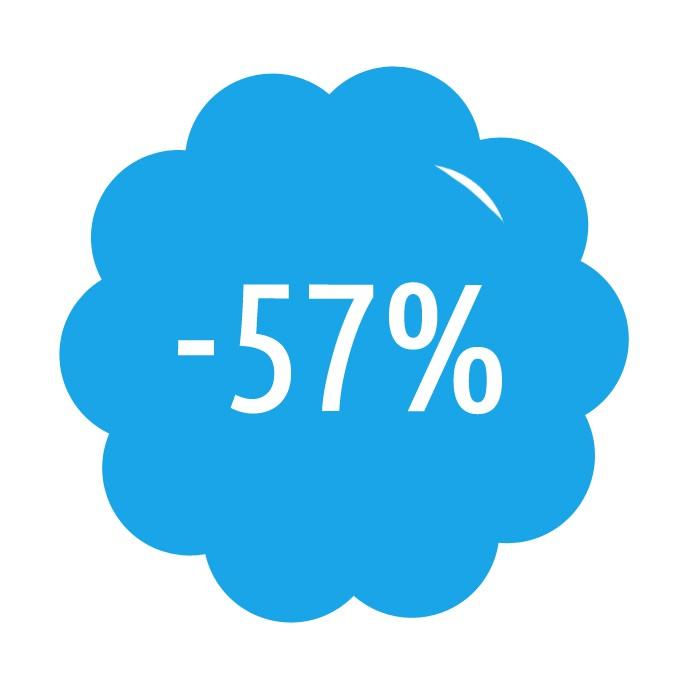 Předplatné se slevou 57%