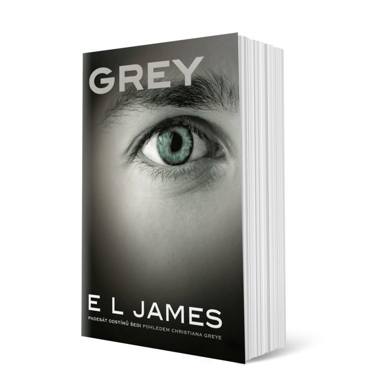 kniha - GREY od E. L. Jamesové autorky Padesát odstínů šedi