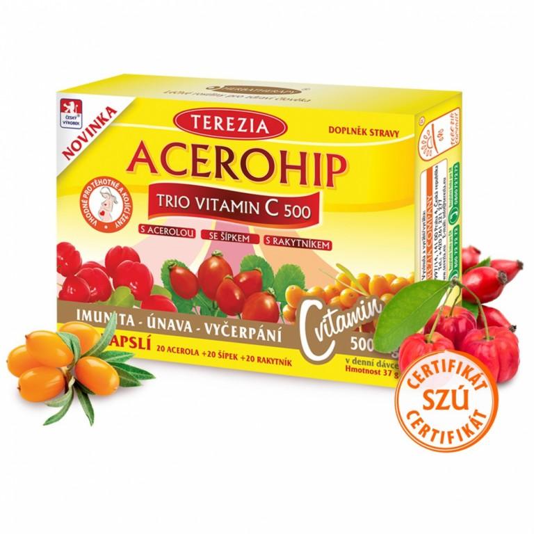 Doplněk stravy - Acerohip Trio Vitamin C 500 60 kapslí od Terezia Company