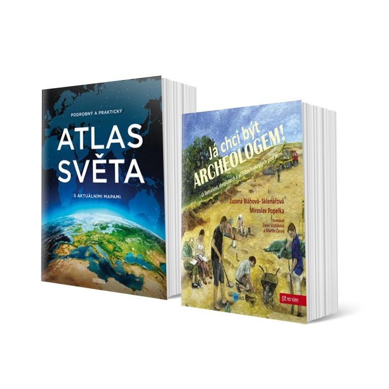 Já chci být archeologem a Podrobný a praktický atlas světa