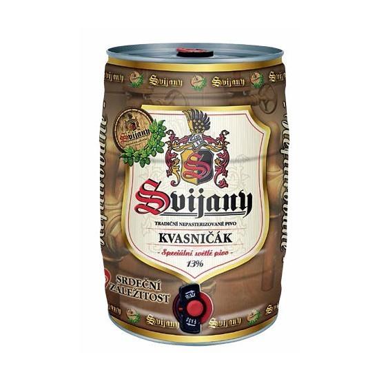 5l soudek piva Svijany v hodnotě 313 Kč