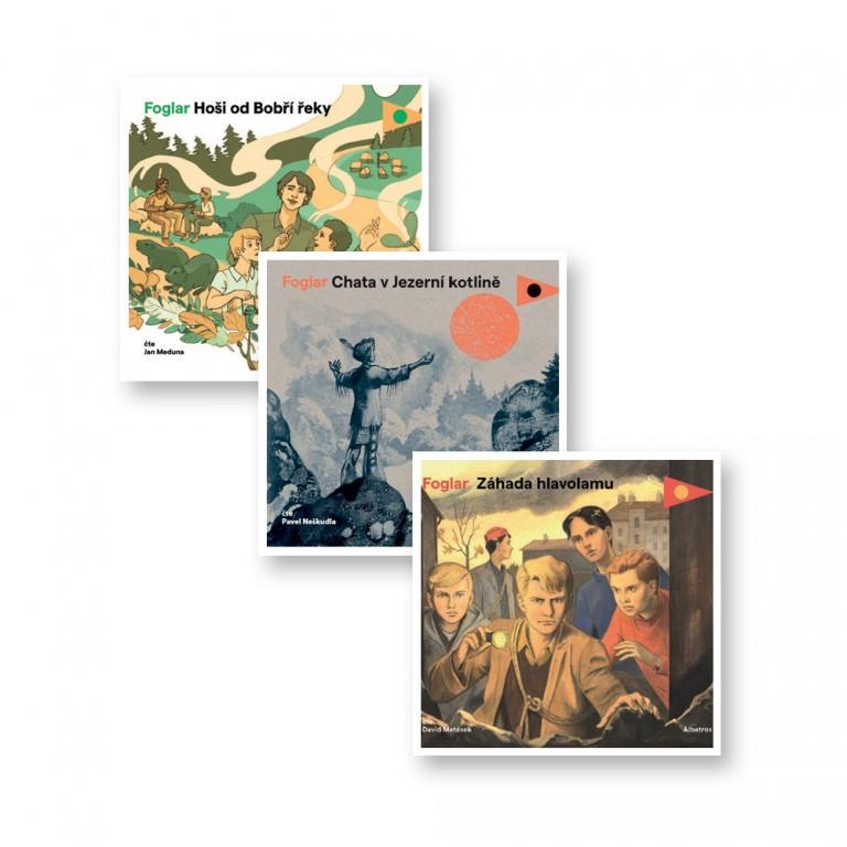 3 audioknihy od Jaroslava Foglara