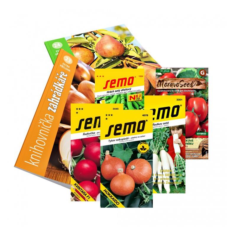 Sada kolekcí osiv od společnosti SEMO (10 balíčků) pro darovací předplatné