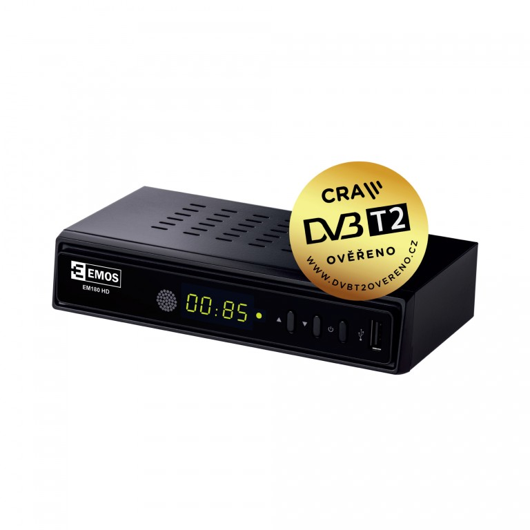 Emos set-top box DVB-T2 v hodnotě 900 Kč