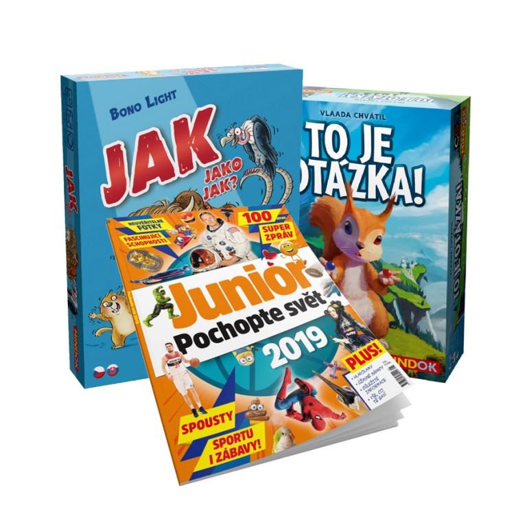 Ročenka Junior 2019 a hry Jak jako jak a To je otázka!