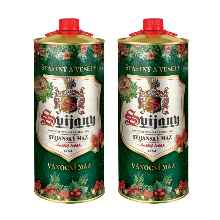 Pivo Svijany s vánočním dekorem